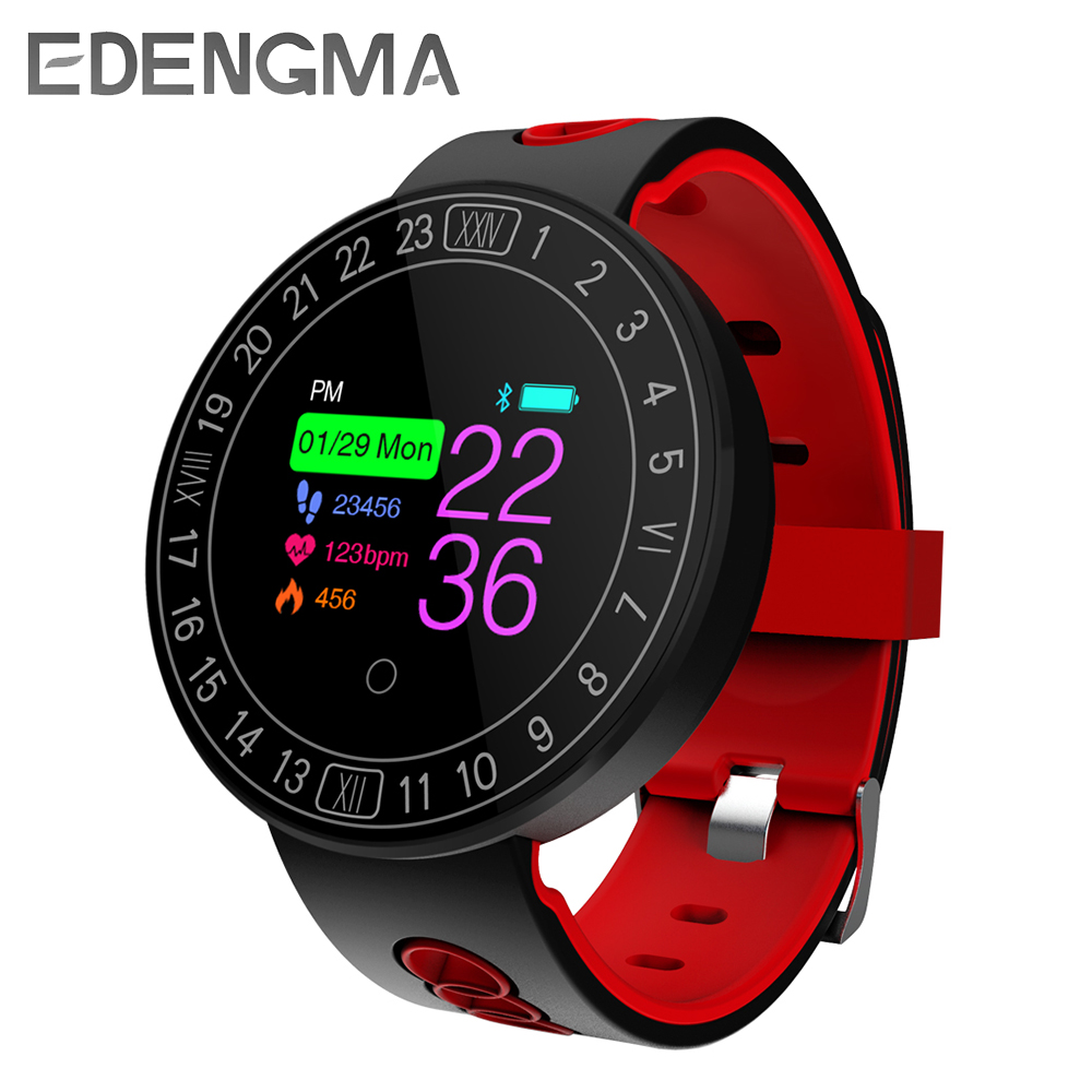 EDENGM Q8 Plus Smart Bracelet Healthy Sports Swimming Heart Rate Blood Pressure Monitor IP68 Waterproof Bluetooth 4.0 Wristbands