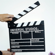 New Hot Two-size Classical Wooden Director Board TV Film Video Scene Clapper Board Slate Cut Prop Movie Photo Studio Accessories