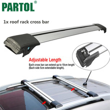 Partol 1x Car Roof Rack Crossbar Cross Bar Top Box Luggage Boat Carrier Snowboard/bike Universal For 93 99 105 111cm Vehicles(China)