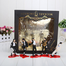 5pcs/set  12cm/4.7inch Michael Jackson PVC Action Figure MJ Collection Model Toy