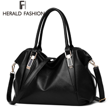 Herald Fashion Designer Women Handbag Female PU Leather Bags Handbags Ladies Portable Shoulder Bag Office Ladies Hobos Bag Totes