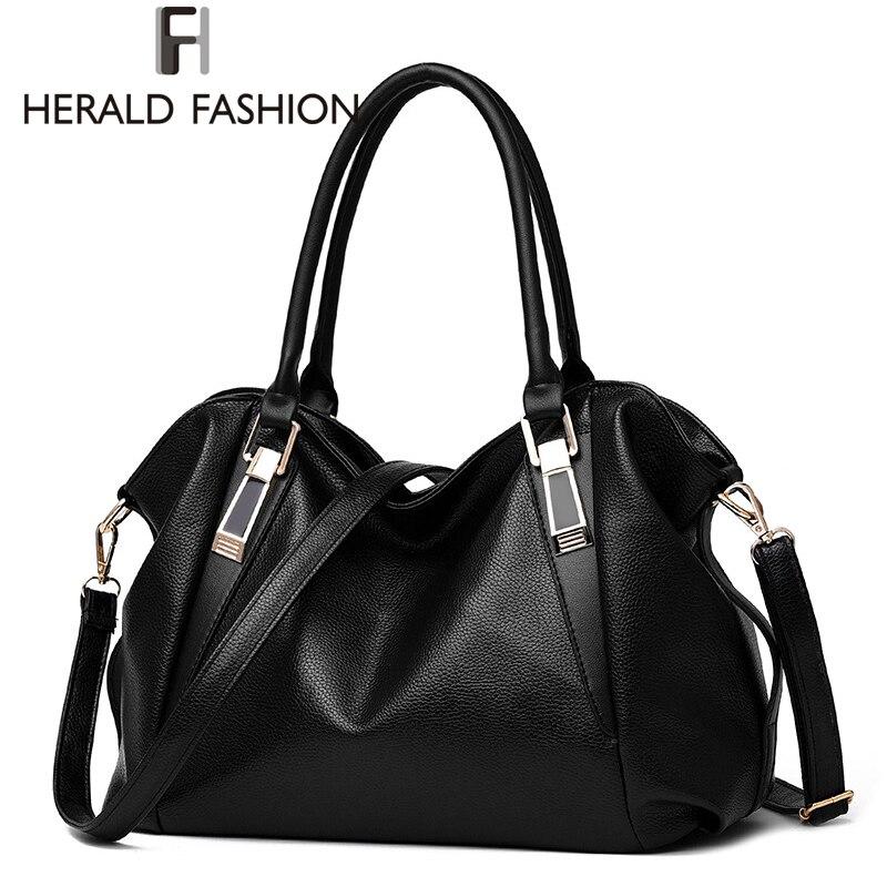 Herald Fashion Designer Women Handbag Female PU Leather Bags Handbags Ladies Portable Shoulder Bag Office Ladies Hobos Bag Totes<br><br>Aliexpress