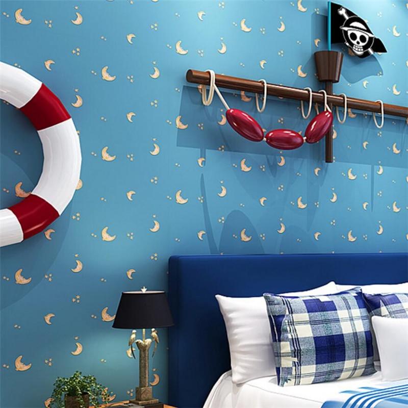 beibehang Sky Blue Nonwovens Wallpaper Living Room TV Background Wallpaper Kids Wallpaper papel de parede<br>