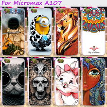 Soft TPU Rubber Cool Skull Minions Phone Cases For Micromax Canvas Fire 4 A107 4.5inch Phone Cover Housing Silicone Accessories