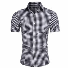 Buy Men Short Sleeve Shirt Male Shirts Men Shirt Brand 2017 Mens Plaid Dress Shirts Hawaiian Camisa Social Masculina XXL for $7.92 in AliExpress store