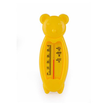 2016 Cartoon Floating Lovely Bear Baby Water Thermometer Baby Bath Thermometer Toy Plastic Tub Water Sensor Thermometer