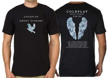 WORLD TOUR 2017 COLDPLAY T-SHIRT GHOST STORIES Mens Cotton Short Sleeve T Shirts Euro Size S-XXXL