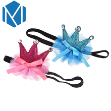 M MISM Children Lovely Tiaras Headband Perfect Quality Glittering Hair Accessories for Kids Girls Cute Crown Hair Band Ornament