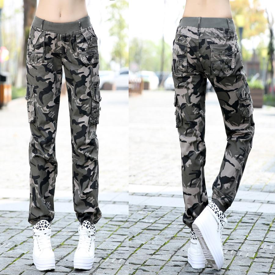 Aliexpress Com Summer Thin Joggers Pants Women Fashion Camouflage Casual Loose Cargo Elastic Waist Military Army Harem From Reliable