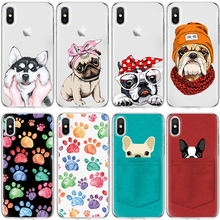 Для iPhone X Xs Max XR 5 SE 6s S 8 7 Plus для Coque Samsung Galaxy S3 S4 S5 Mini S6 S7 Edge S8 S9 плюс Grand премьер корпус собака ТПУ(China)