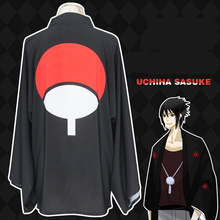 Hot Anime Naruto Uchiha Sasuke Cosplay Costume Hexagram Write Round Eyes Feather Weave Bathrobes Sunscreen Clothing Customized(China)