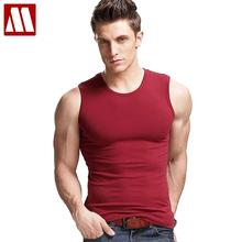 Free shipping 2017 summer upscale mens fashion V-neck sleeveless wide shoulder Tank top fitness vest stretch cotton S M L XL XXL(China)