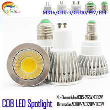 COB LED Spotlight E27 GU10 9W 12W 15W 220V 110V Lampada LED Lamp Dimmable Focoe Refletor Bombillas LED Bulbs Lampara Lampe Luz