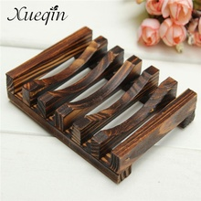 Xueqin Handmade Wooden Bathroom Wood Soap Dish Box Container Kitchen Tub Sponge Storage Cup Rack Soap Holder(China)