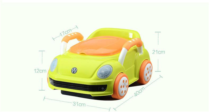 2017 Brand Cute Beetle Car Style Baby Potty Trainer Plastic Kids Toilet Travel Potty Chair Free Shipping Urinary Potty Boy Girl02