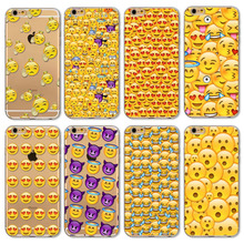 Cover For Apple iphone 6 6s Monkey Emoji fundas Paitned Soft Sillicon Transparent TPU Phone Cases Cover CD0061 21-40