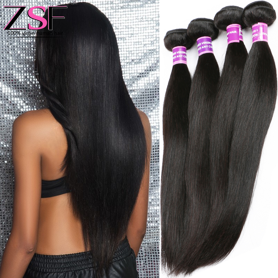 ZSF Hair Company Indian Virgin Hair Straight 3 Bundles 8A Grade Virgin Unprocessed Human Hair 10-30 Inch Straight Virgin Hair <br><br>Aliexpress