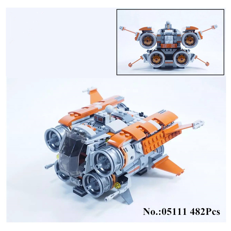 H&amp;HXY IN STOCK 05111 Star 482Pcs Series Wars Genuine The Jakku Quadjumper Set Educational Building Blocks Bricks lepin Toy Model<br>