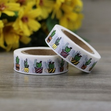 NEW Foil Washi Tape Japanese Cactus Plants 10m Kawaii Scrapbooking Tools Masking Tape Christmas Photo Album Diy Decorative Tapes