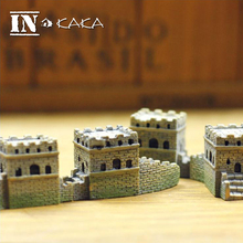 2pc Resin Chinese Great Wall Model Toys figurine sculpture building kits miniatures/micro garden DIY statue accessories ornament