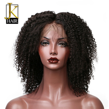 JK Hair Kinky Curly Lace Wig 150% Density Brazilian Remy Lace Front Human Hair Wigs For Black Women Pre Plucked With Baby Hair
