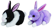 Cute Beanie Stuffed Animal Big Eyes Purple Lilac Black and White Checkers Rabbit Bunny Plush Toy 6'' 15CM Kids Toys for Children(China)
