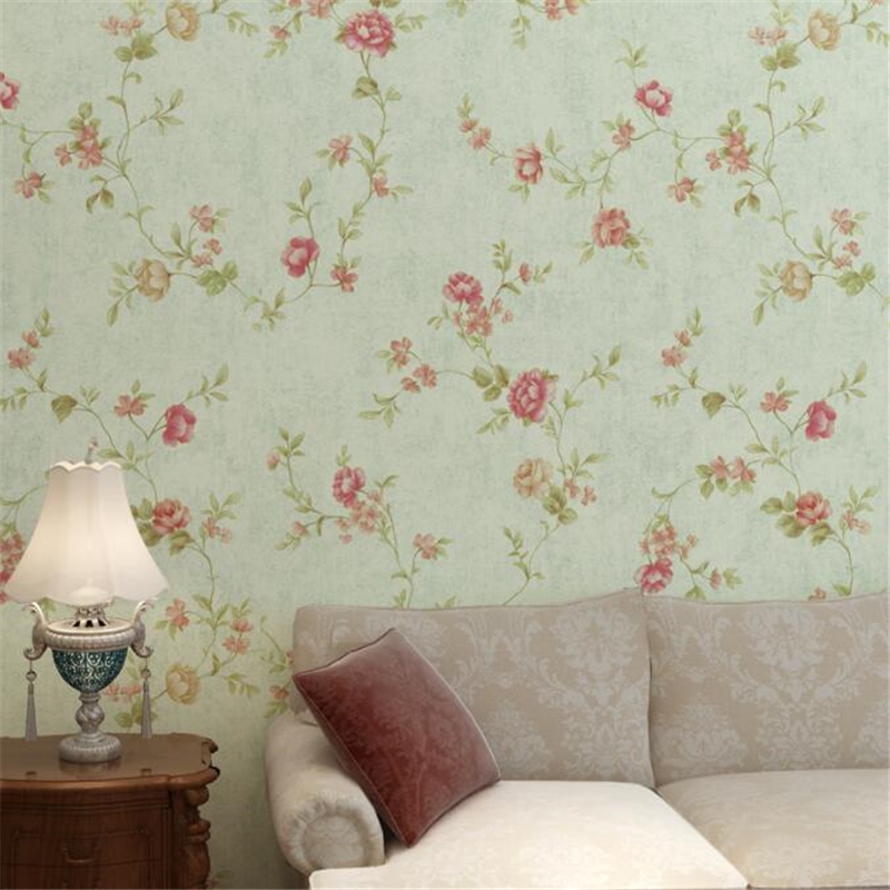 Modern style Wallpaper Vintage Bedroom wall sticke Small Flower Living Room Sofa Background Wall wallpaper roll tapety Beibehang<br>