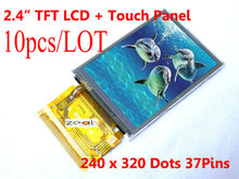 "10 PCS 2.4"" TFT LCD Module + Touch Panel 240 x 320 Dots 37pins 8/16bit ILI9325 Factory direct sale FREE SHIPPING Free Tracking(China)"