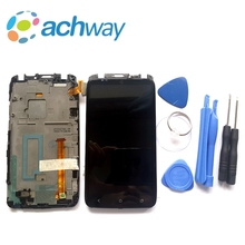 "For 4.7"" HTC ONE X / XL S720e LCD Display Touch Screen Digitizer Assembly With Frame For HTC ONE XL LCD Display Replacement Part(China)"