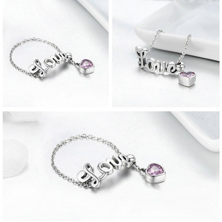 925 Sterling Silver Love Letter Adjustable Ring