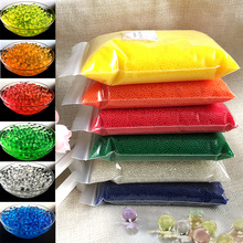 50000 PCS/Bag Hydrogel Pearl Shaped Crystal Soil Water Beads Bio Gel Ball For Flower/Weeding Mud Growing Magic Jelly Balls(China)