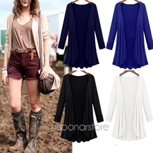 Fashion 2016 Cardigan Women Sweater casual Crochet Poncho Plus Size Coat Women long Sweaters vestidos Cardigans outerwear