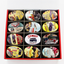 European Type Tin Box Vintage Style Tea Candy Storage Case 24Piece/Lot Oval Metal Mac Makeup Organizer Small Things Collectable