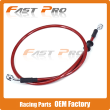 Red Motorcycle 500mm-2000mm Braided Steel Hydraulic Brake Clutch Radiator Oil Cooler Hose Line Pipe Tube 28 Degree Banjo
