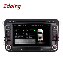 Idoing 2GB RAM Steering-Wheel 2Din Android6.0 Car DVD Multimedia Player For VW Jetta Polo Golf GPS Built-in 3G Dangle Radio wifi(China)