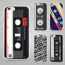 Old Cassette Hard White Cell Phone Case Cover for Apple iPhone 4 4s 5 5C SE 5s 6 6s 7 8 Plus X(China)