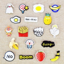 Fashion kawaii anime clothes acrylic badges pins for clothes icon decorating badge backpack pin button acrylic brooch un(China)