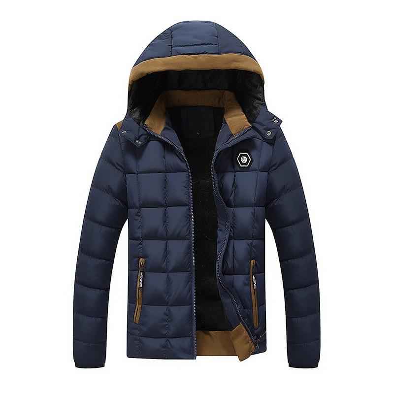 2017 NEW Mens Winter Down Jacket Fur Inside Cotton Padded Warm Parka Coat  High Quality Campera Hombre Thick Jacket JK011Одежда и ак�е��уары<br><br><br>Aliexpress