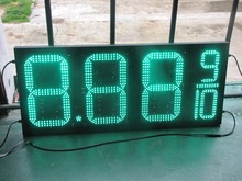 "Outdoor waterproof 10"" 8.889 Green LED gas price signs digital for Gas Station"