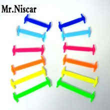 Mr.Niscar 1Set/12Pcs New Design Children No Tie Rubber Elastic Shoelace Sneaker Shoe Laces Running Shoelaces Athletic Shoe Laces(China)