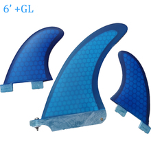 6 inch single GL surf fin blue honey comb surfboard fins(China)