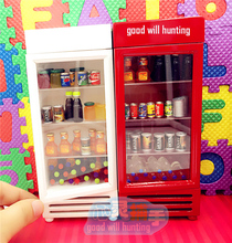 1:12 Cute MINI Dollhouse Miniature home Decoration Food Drink Refrigerator(China)