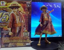 Anime One Piece Monkey D Luffy Figure Grandline Lady 15th Anniversary PVC Action Figure Model Toy 17CM