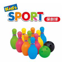 Free Shipping 12Pcs/Lot Baby Sport Toys Colorful Bowling Ball Play Set Best Gift for Kids Japanese Quality Hands Practice Toy(China)