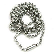 2.4mm rhodium 70cms Dog Tag Chains Ball Bead Chain Ball Chains Necklaces Keychains,wholesale chains for jewelry supplies