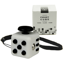 Mini Fidget Cube 11 Colours Desk Finger Toy Keychain Squeeze Fun Stress Reliever Puzzle Magic Cube With Box(China)