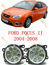 For FORD FOCUS II MK2   2004-2008   car styling led lamps  Refit fog lights    12V  2 PCS  White Blue Yellow