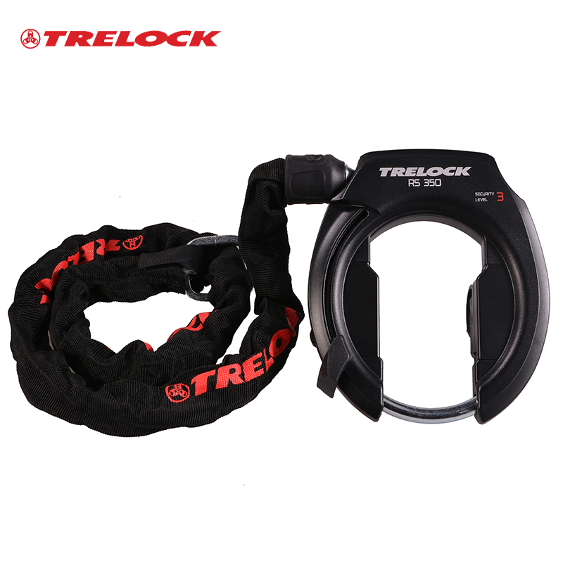TRELOCK Bicycle Lock Including Chain And Cable Lock Stainless Steel Cycling Lock Anti-theft Security Level 3 Bike For Two Bikes<br><br>Aliexpress