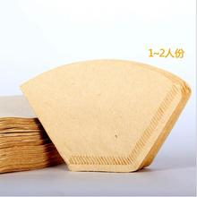 40pcs/Pack Wooden Original Hand Drip Paper Coffee Filter Espresso Coffee Filters(China)