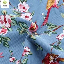 Upholstery Cotton Canvas Fabric For Sewing Hometextile DIY Handmade For Curtain Cushion Bag Shoes Bird Style 50x150cm B1-1-13(Hong Kong)